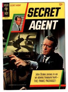 SECRET AGENT #1 1966-GOLD KEY 1ST ISSUE-PATRICK MCGOOHAN-TV SERIES-HIGH GRADE