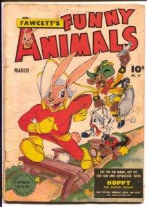 Fawcett's Funny Animals #27 1945-Hoppy The Marvel Bunny-superhero animals-VG