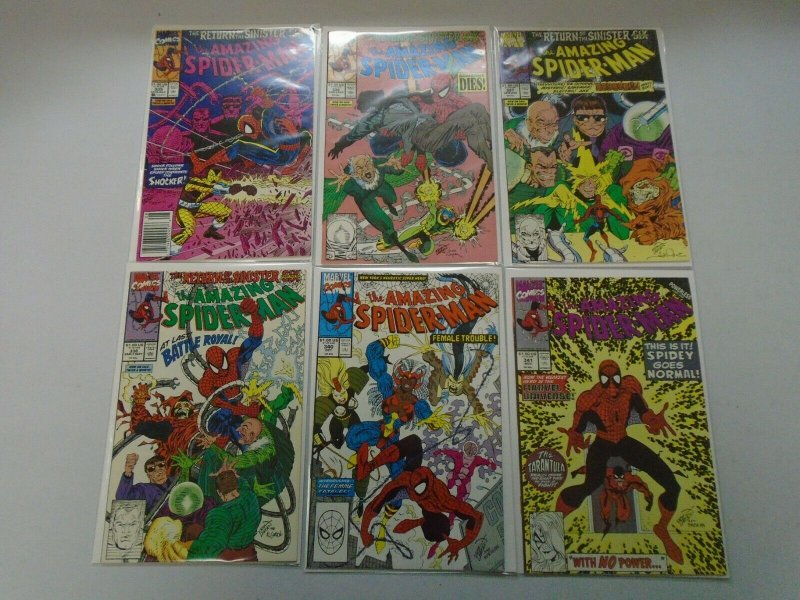 Amazing Spider-Man Comic Lot From #329-350 18 Different Average 8.0 VF (1990-91)