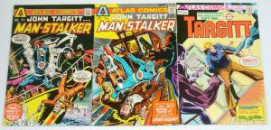 John Targitt ... Man-Stalker #1-3 FN complete series - atlas comics set lot 2