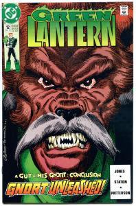 GREEN LANTERN 12, NM+, Guy Gardner, Power Ring, Gnort, 1990, Master Plan