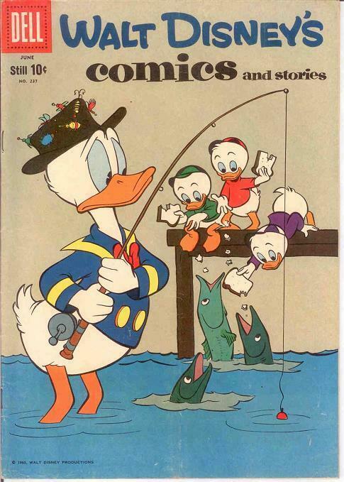 WALT DISNEYS COMICS & STORIES 237 FINE  June 1960 COMICS BOOK