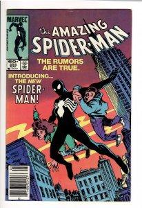 The Amazing Spider-Man #252 (1984) VF+ 8.5 1st BLACK UNIFORM(SYMBIOTE)