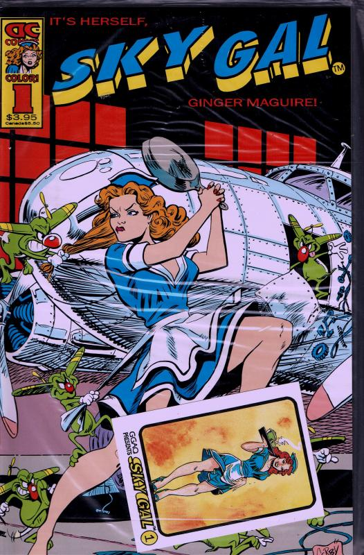 Sky Gal #1 (1994) Bagged with Card - NM+