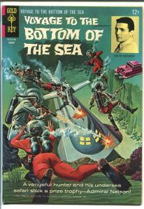 VOYAGE TO THE BOTTOM OF THE SEA #5 1966-GOLD KEY-TV-BASEHART-HEDISON-fn/vf