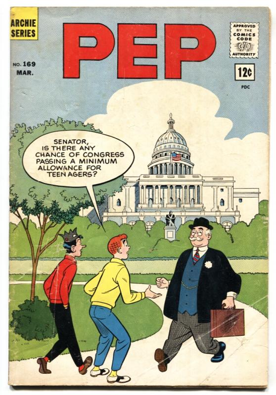 Pep Comics #169 comic book 1964- Archie- Josie- Capitol Building