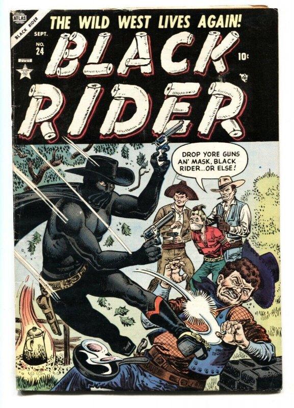 Black Rider #24 1954- Atlas Western- Joe Maneely cover- VG