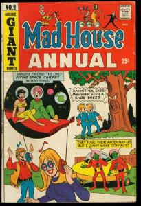 MAD HOUSE ANNUAL #9-FLYING SAUCER UFO COVER VG