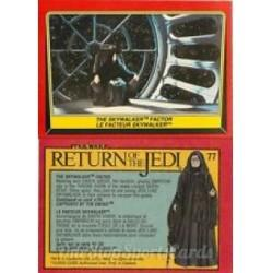 1983 Topps RETURN OF THE JEDI - THE SKYWALKER FACTOR #77