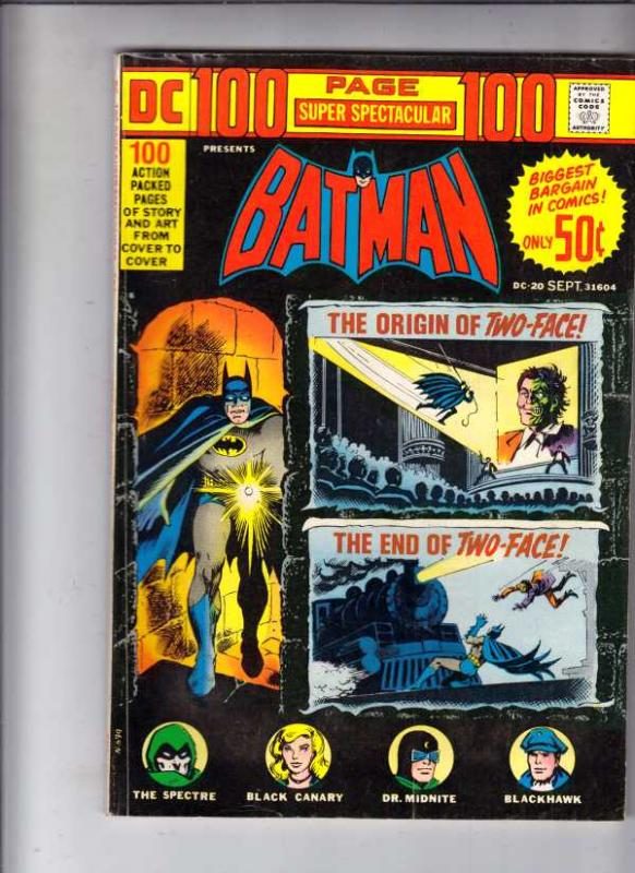 DC 100-Page Super Spectacular #20 (Sep-73) FN Mid-Grade Batman, Robin the Boy...