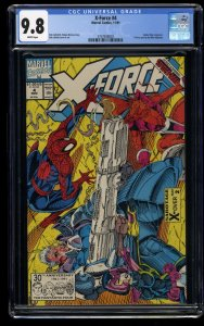 X-Force #4 CGC NM/M 9.8 White Pages Spider-Man Appearance!