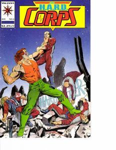 Lot Of 2 Valiant Comic Book Hard Corps #2 3  AH12