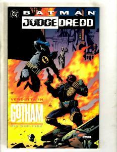 Batman Judge Dredd DC Graphic Novel Comic Book NM Vendetta In Gotham DHorse J371