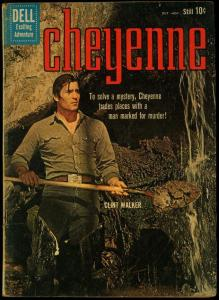 Cheyenne #18 1960- Clint Walker photo cover- Dell Silver Age VG