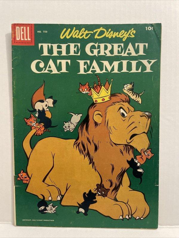 Walt Disney's The Great Cat Family #750