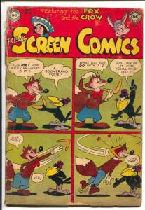 Real Screen #51 1952-DC-Fox & Crow-4 panel cover-racial innuendo-G/VG