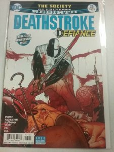 Deathstroke-Defiance #25 NM Rebirth The Society   DC Comics NW143