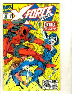 X-Force # 11 NM Marvel Comic Book Deadpool Appearance Domino Cable X-Men GK4