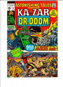 Astonishing Tales #3 (Dec-70) FN/VF+ High-Grade Ka-Zar, Doctor Doom