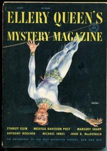 Ellery Queen's Mystery Magazine 6/1953-John D MacDonald-pulp crime & thrills-VG+