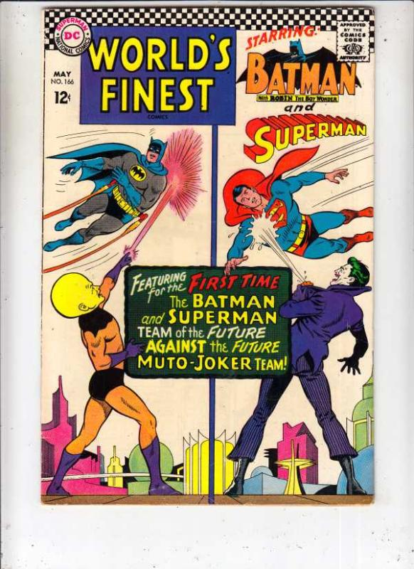 World's Finest #166 (May-67) NM- High-Grade Superman, Batman, Robin