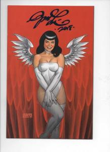 BETTIE PAGE #3 E, VF/NM, Signed by Joseph Linsner, 2017, Betty, Virgin Variant