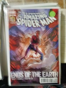 Amazing Spider-Man # 686 2012  marvel  ends of the earth pt 5+ black widow+