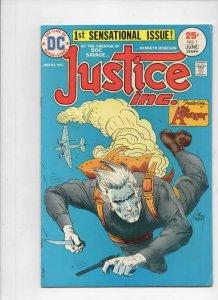 JUSTICE INC #1, VG/FN, Joe Kubert, The Avenger, 1975, more in store