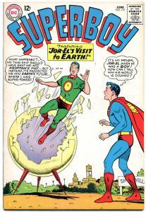 SUPERBOY #121 1965-KRYPTON JOR-EL VISITS EARTH  Silver-age comic FN-