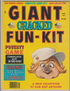 GIANT CRACKED FUN-KIT - MARCH 1980  - HUMOR COMIC MAGAZINE