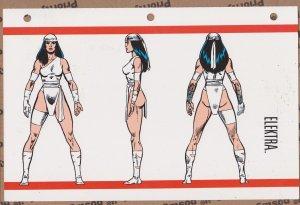 Official Handbook of the Marvel Universe Sheet- Elektra