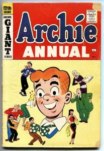 ARCHIE ANNUAL #12 comic book 1961 BETTY & VEROLNICA REGGIE