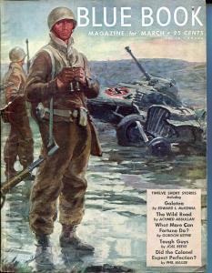 BLUE BOOK PULP-FEB 1945-FN-STOOPS COVER-CHANSLOR-BRANDON-WILL BIRD-fine FN