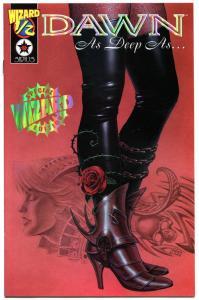 DAWN AS DEEP AS #1/2, NM-, Wizard Mail away, 2000, Joseph Linsner, Gold foil