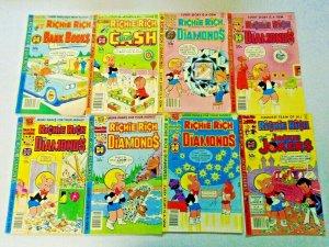 Richie Rich Harvey Comic Lot 50¢-60¢ Covers 33 Different Average 5.0