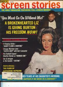 Screen Stories-Liz Taylor-Richard Burton-Burt Lancaster-Michael York-Sept-1969