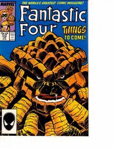 Lot Of 2 Marvel Comic Books Fantastic Four #310 and World War Hulks #22 MS20