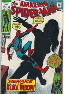 amazing spider man #86 $10.00 vg