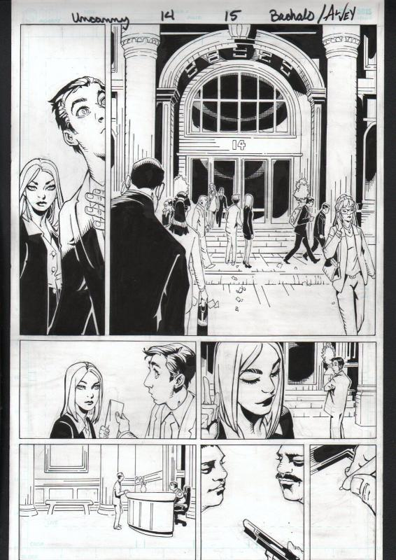 UNCANNY X-MEN #14-ORIGINAL ART-PG 15-CHRIS BACHALO-MARVEL