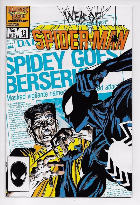 Web of Spider-Man #13 - Black Costume / Mike Harris (Marvel, 1986) - NM
