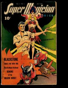 Super Magician Comics Vol. # 4 # 3 FN- 1945 Golden Age Comic Book Demons NE3