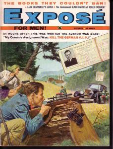 EXPOSE FOR MEN 1959 OCT PUBLISHERS PAY COPY - VERY RARE VG