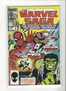 The Marvel Saga the Official History of the Marvel Universe #2 VF/NM