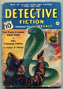 Detective Fiction Weekly Pulp June 29 1940-Park Avenue Park Club v Flaming Cobra