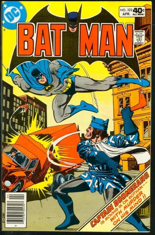 BATMAN #322-1980-DC VF