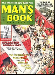 MAN'S BOOK 1962 MAR #1-SHE-DEVILS OF TORTURE CASTLE FN
