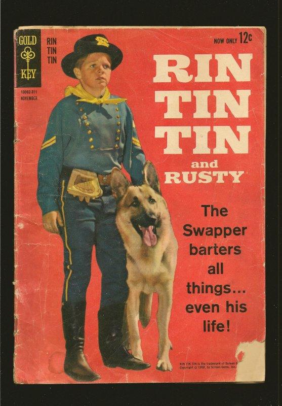Gold Key Comics Rin Tin Tin & Rusty No 1 November 1963 see condition issues