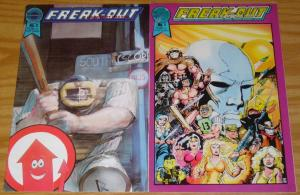 Freak-Out On Infant Earths #1-2 FN/VF complete series  crisis on infinite earths
