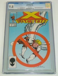 X-Factor #15 CGC 9.8 1st appearance of horsemen of apocalypse - white pages