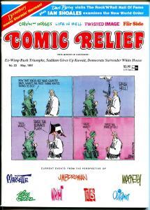 Comic Relief #23 1991-Calvin & Hobbes-political cartoons-Toles-Doonesbury-FN/VF